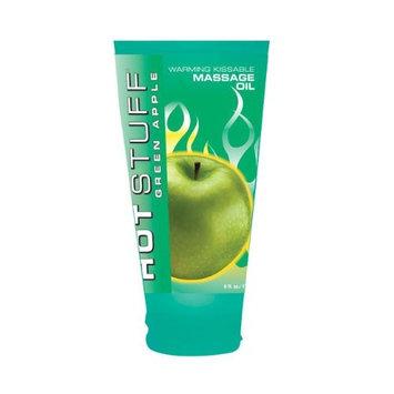 Topco Hot Stuff Warming Oil, Green Apple, 6 Fluid Ounce (177 Ml) Tube