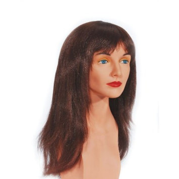 Star Power Woman Punk Wispy Layers Long Costume Wig, Brown, One Size