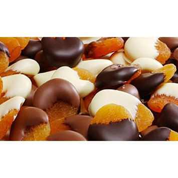 Assorted Chocolate Dipped Apricots (1 lbs Gift Box)) Healthy Gifts - Fresh Dried Premium Fruit, Gourmet Fruit Gifts