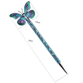 LiveZone Fashion Hair Decor Chinese Traditional Style Women Girls Hair Stick Hairpin Hair Making Accessory with Butterfly ,Orange