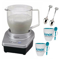 Capresso Froth Max Automatic Milk Frother + Free Knox Mugs and 2 Demi Spoons
