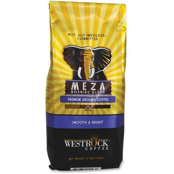 Westrock Meza Morning Blend Ground Coffee - Caffeinated - Meza Morning - Medium - 12 oz Per Bag - 1 Each