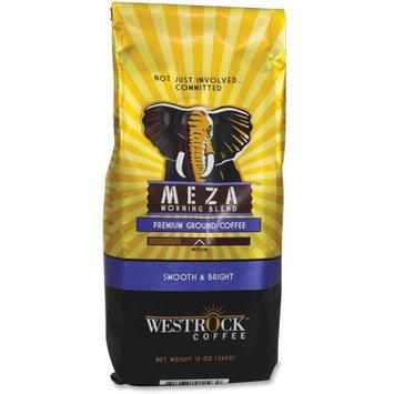 Westrock Meza Morning Blend Ground Coffee - Caffeinated - Meza Morning - Medium - 12 oz Per Bag - 1 Each