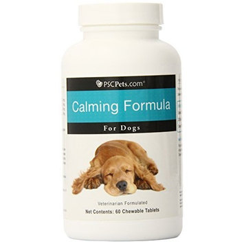 PSCPets Calming Formula for Dogs, 60 Chewable Tablets