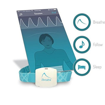 2breathe Sleep Inducer - Sleep Sound System. Smart Device and Mobile App to Induce Sleep. Guides You to Slow Breathing with Prolonged Exhalation using Sounds. Natural Sleep Therapy Machine