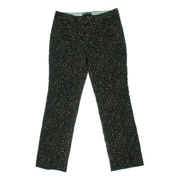 Rochas Womens Metallic Jacquard Pants