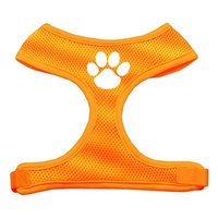 Mirage Pet Products 7016 LGOR Paw Design Soft Mesh Harnesses Orange Large