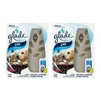 Glade Automatic Spray Air Freshener Starter Kit, Pet Clean Scent, 6.2 oz - 2 Packs
