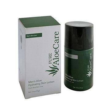 PURE AloeCare Men's Organic Aloe Hydrating Skin Lotion, Delivers Instant Moisture and Nourishment Deep into the Skin2.65 oz (75g)