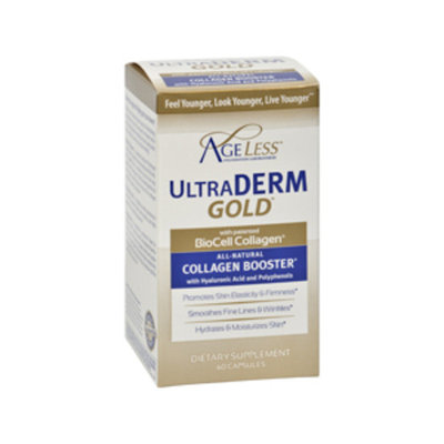 Ageless Foundation UltraDerm Gold Collagen Booster Capsules, 60CT