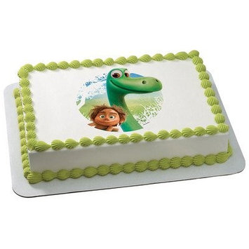 Whimsical Practicality Good Dinosaur Arlo & Spot Prehistoric Edible Icing Image (8 inch Round)