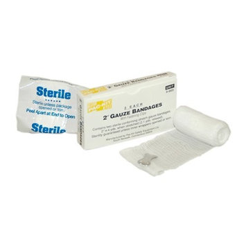 Pac-Kit by First Aid Only 5-003 Sterile Gauze Bandage with Clip, 4 yds Length x 2