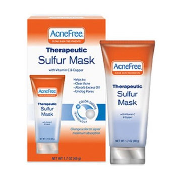 Acne Free Therapeutic Sulfur Mask With Vitamin C and Copper -1.7 oz, 2 Pack