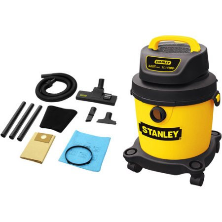 Stanley Vacuum Stanley 2.5 Gallon 4.0 Peak HP Portable Poly Wet/Dry Vacuum