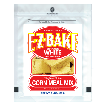 Prairie Mills Products Llc E-Z-Bake White Self-Rising Corn Meal Mix 2 lb - 6 count