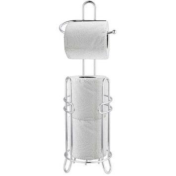 Home Basics Chrome Plated Steel Toilet Paper Holder & Dispenser