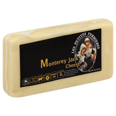 Anderson International Foods Les Petites Fermieres - Monterrey Jack Cheese - Block - 8 oz. - Kosher Product