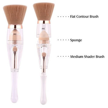 Makeup Brushes Zoreya(TM) 3 in 1 New TRIO Complexion 3x High Efficient Multipurpose Professional Minimalist Design Makeup Brushes Set Kit with Maximum Application, Bronzer Blush (Medium Shader Set)