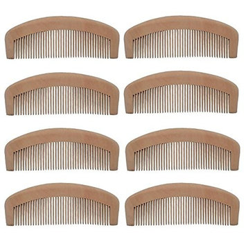 Xuanli 8Pcs Natural Wooden Tooth Beard and Hair Combs Set For Men and Women (S022)