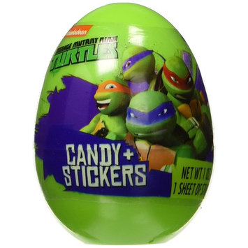 6 Teenage Ninja Turtles Easter Eggs filled with Candy & Stickers
