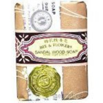 Bee & Flower Soaps Traditional Scent Bar Soaps Sandalwood 4 (4.4 oz.) bars per box (a) - 2pc by Bee & Flower
