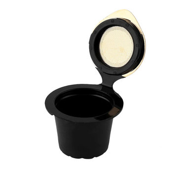 1PCS Stainless Steel Gold Plated Coffee Capsule Cup Super Small Size Reuable Resillable Coffee Capsule For NESCAFE