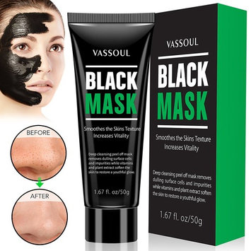 Vassoul Blackhead Remover Mask, Charcoal Peel-off Mask for Face Nose Acne Treatment Oil Control