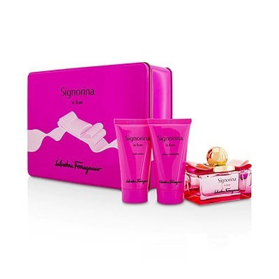 Salvatore Ferragamo Signorina In Fiore Coffret: Eau De Toilette Spray 50Ml/1.7Oz + Body Lotion 50Ml/1.7Oz + Shower Gel 5