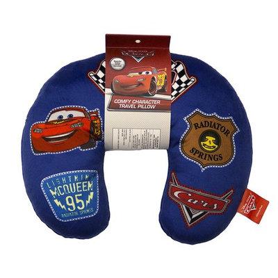 Disney Pixar Cars Badges Blue Travel Neck Pillow with Lightning McQueen