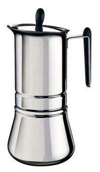 VillaWare V003-4180 6-Cup Aromatico Stovetop Espresso Coffee Maker, Stainless Steel
