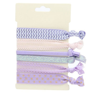 No Crease Elastic Hair Styling Accessories Pony Tail Holder Ribbon Bands, Grey