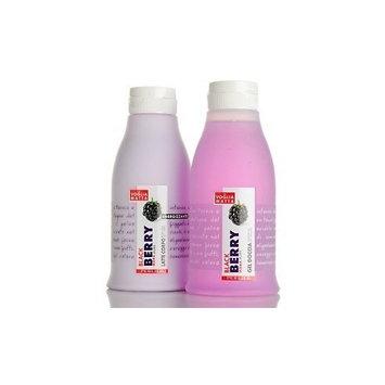 Perlier Black Berry Shower Gel & Body Milk Set