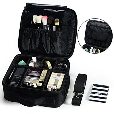 Travel Makeup Train Bag Makeup Cosmetic Case for Cosmetics Makeup Brushes Toiletry Jewelry