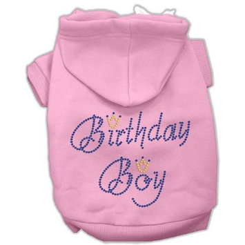 Mirage Pet Products 16-Inch Birthday Boy Hoodies, X-Large, Pink