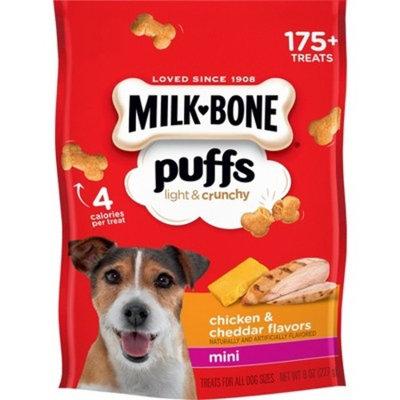 Milk-Bone Puffs Chicken & Cheddar Mini Dog Treats - 8oz