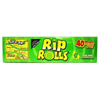Dollaritem Wholesale Rips Roll Sour Candy Apple *1Y -Sold by 1 Box of 24 Pieces