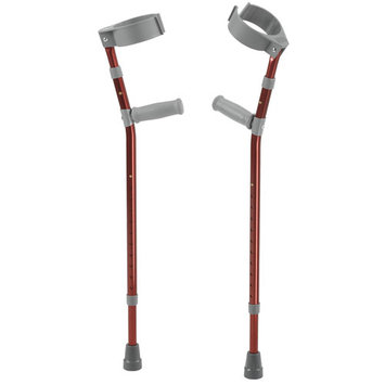 Inspired by Drive Pediatric Forearm Crutches, Small, Castle Red, Pair