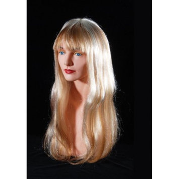 Star Power Womens Straight Hair Wig w Bangs, Honey Blonde, One-Size