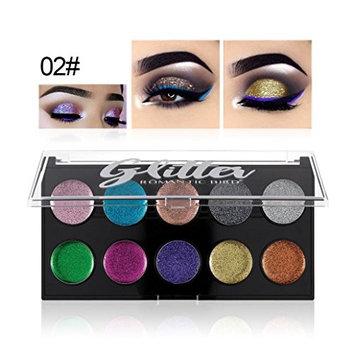 Alonea Shimmer Eyeshadow Palette, Glitter Powder Eyeshadow Makeup Waterproof Brighten Pigment Eye Shadow Plate