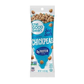 The Good Bean Chickpeas Snacks Grab & Go, Sea Salt, Gluten Free and Non-GMO, 1.4 Ounce, 10 Count [Sea Salt]