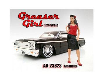 American Diorama 23823 Greaser Girl Amandita Figure for 1-24 Scale Models