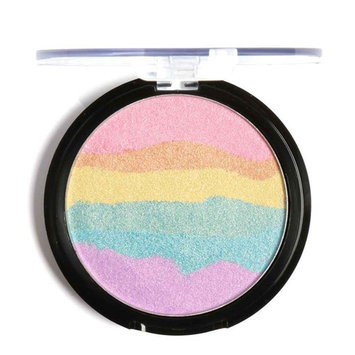 Rainbow Color Highlighter Powder Palette Bronzer Contour Mineral Face Highlighter Xuanhemen