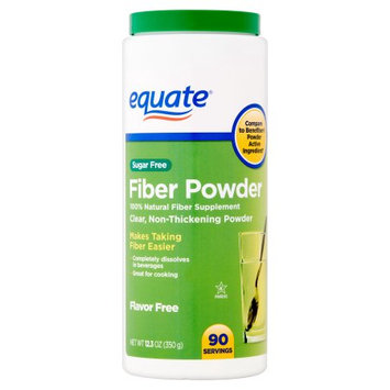 Wal-mart Stores, Inc. Equate - Fiber Powder, Clear Soluble, 90 Servings, 12.3 oz (Compare to Benefiber)