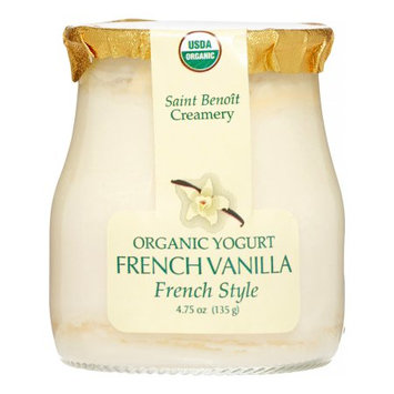 Saint Benoit Creamery Organic French Style Yogurt, French Vanilla, 4.75 Oz