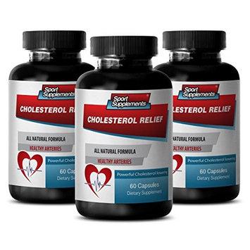 Plant sterols supplements - CHOLESTEROL RELIEF - Blood flow supplements - 3 Bottles 120 Capsules
