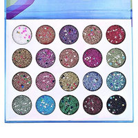 DONGXIUB Pressed Sequins Glitter Eyeshadow Palette 20 Color Highly Pigmented Shimmery Waterproof Long Lasting Prom Makeup