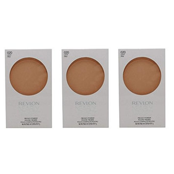 Revlon Nearly Naked Pressed Powder, 020 Light (Pack of 3) + FREE Eyebrow Razor, 3 Ct.