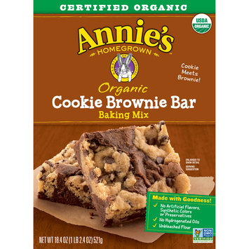 Annie's Organic Cookie Brownie Bar Baking Mix, 16 Bars, 18.4oz Box