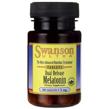 Swanson Dual-Release Melatonin 3 mg 60 Tabs