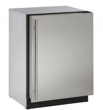 U-Line 2000 Series 2224 - 24 Inch Stainless Steel Solid Door Refrigerator